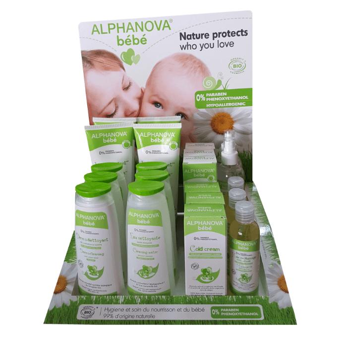 Expositor completo Alphanova Bebé